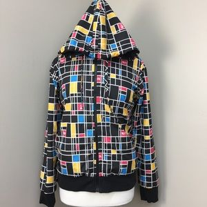 The North Face Reversible Hooded Geo Print Jacket